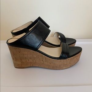 NWOT Marc Fisher Shelbee leather wedges, size 8.5